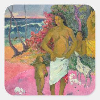 Paul Gauguin   A Walk by the Sea, 1902 Square Sticker