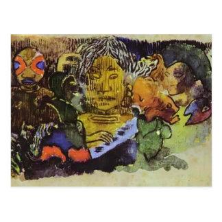 Paul Gauguin- Barbarian music Postcard
