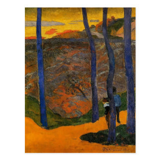 Paul Gauguin- Blue trees Postcards
