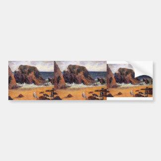 Paul Gauguin- Cows on the Seashore Bumper Sticker