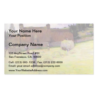Paul Gauguin- Haymaking in Brittany Pack Of Standard Business Cards