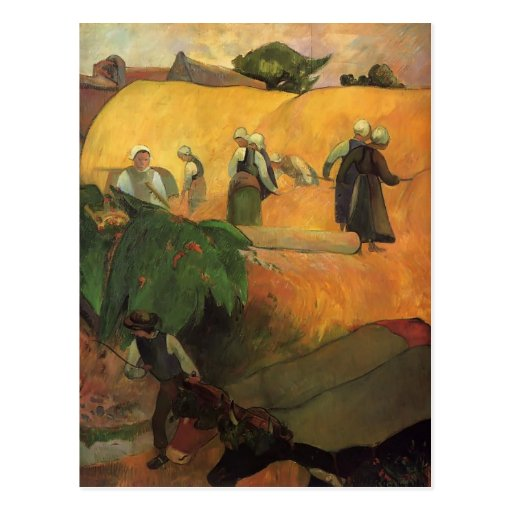 Paul Gauguin- Haymaking Postcard