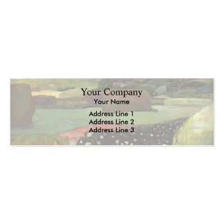 Paul Gauguin- Haystacks in Brittany Pack Of Skinny Business Cards