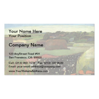 Paul Gauguin- Haystacks in Brittany Pack Of Standard Business Cards