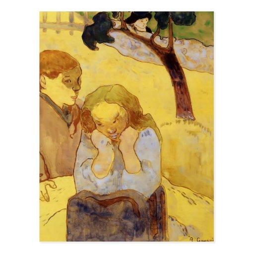 Paul Gauguin- Human misery Postcard