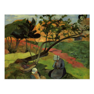 Paul Gauguin- Landscape with two breton women Postcard