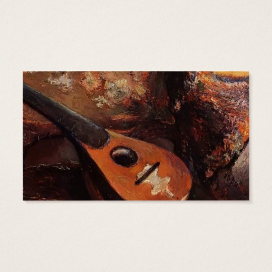 Paul Gauguin- Mandolin on a chair Business Card
