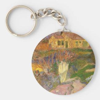 Paul Gauguin- Mas, near Arles Keychain