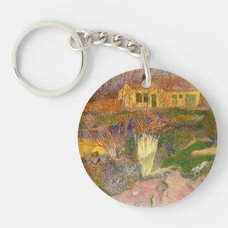 Paul Gauguin- Mas, near Arles Keychains