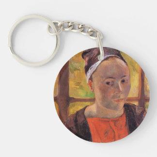 Paul Gauguin- Portrait of a woman (Marie Lagadu) Acrylic Keychain