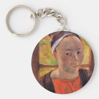 Paul Gauguin- Portrait of a woman (Marie Lagadu) Keychains
