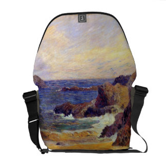 Paul Gauguin - Rocky Coast - France Beach Sunset Courier Bag