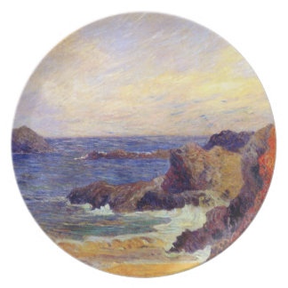 Paul Gauguin - Rocky Coast - France Beach Sunset Plate