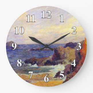 Paul Gauguin - Rocky Coast - France Beach Sunset Wallclocks