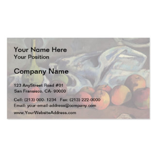 Paul Gauguin-Still life with apples and green vase Business Card
