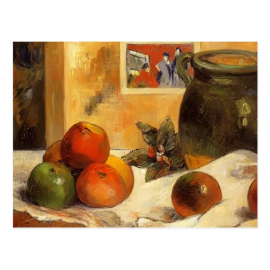 Paul Gauguin- Still life with Japanese print Postcard