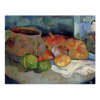 Paul Gauguin- Still life with onions, beetroot Postcard
