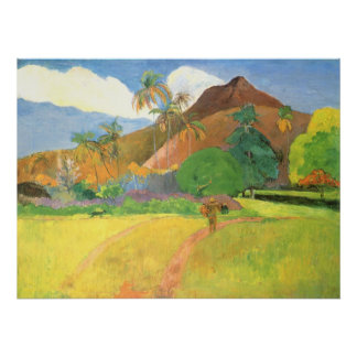 Paul Gauguin, Tahitian Landscape, Mountains Tahiti Poster