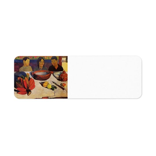 Paul Gauguin- The Meal (The Bananas) Return Address Label