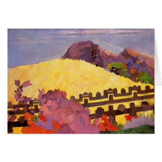 Paul Gauguin- The sacred mountain Greeting Card