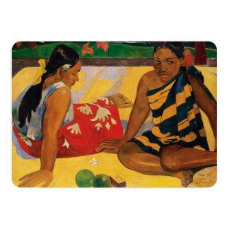Paul Gauguin Two Women Of Tahiti Parau Api Vintage Card
