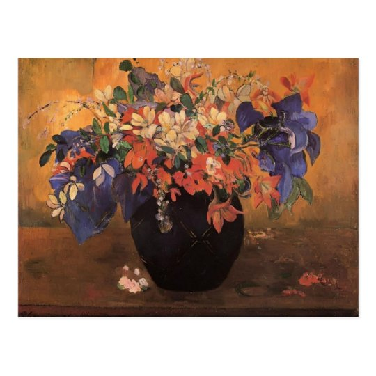 Paul Gauguin- Vase of flowers Postcard