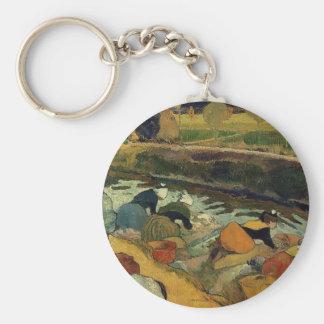 Paul Gauguin- Washerwomen at Roubine du Roi Key Chain
