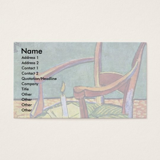 Paul Gauguin'S Armchair By Vincent Van Gogh Business Card