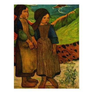 Paul Gauguin's Breton Girls (1889) Flyer Design