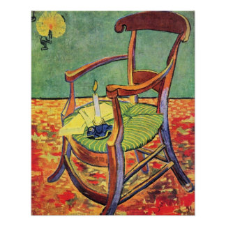 Paul Gauguin's chair by Vincent van Gogh Poster