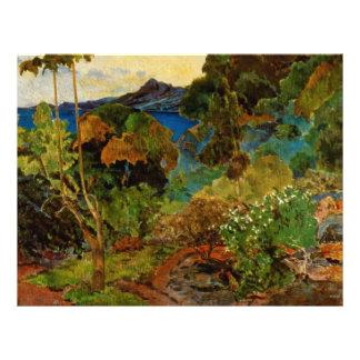 Paul Gauguin's Martinique Landscape (1887) 21.5 Cm X 28 Cm Flyer