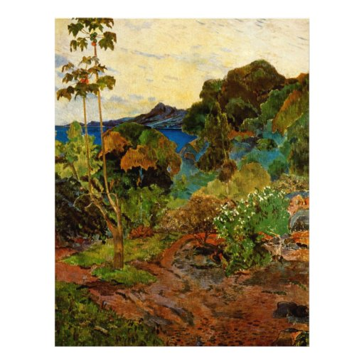 Paul Gauguin's Martinique Landscape (1887) Flyers