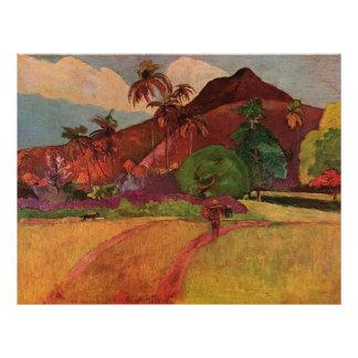 Paul Gauguin's Tahitian Landscape (1893) 21.5 Cm X 28 Cm Flyer