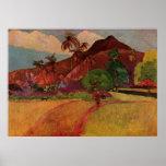 Paul Gauguin's Tahitian Landscape (1893) Print