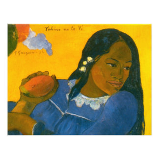 Paul Gauguin's Woman with a Mango (1892) 21.5 Cm X 28 Cm Flyer
