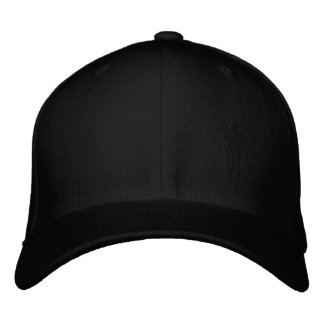 Paul Gear Hat--Black Embroidered Hat
