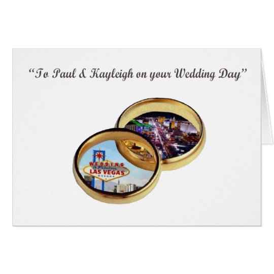 Paul & Kayleigh Wedding Rings Las Vegas Card