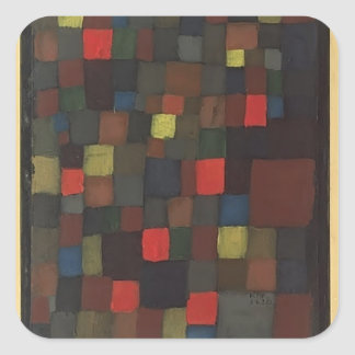 Paul Klee- Abstract Colour Harmony in Squares Square Stickers