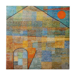 Paul Klee - Ad Parnassum Small Square Tile