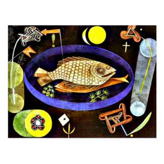 Paul Klee: Aroundfish painting Postcard