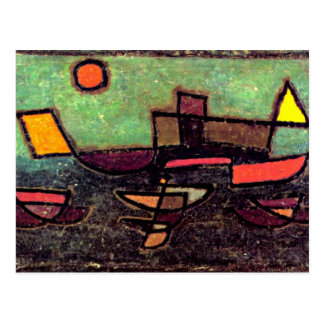 Paul Klee art: Afbahrender Dampfer Postcard