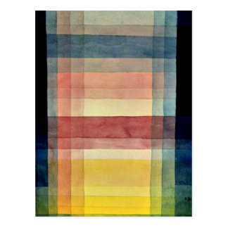 Paul Klee art: Architecture of the Plain Postcard