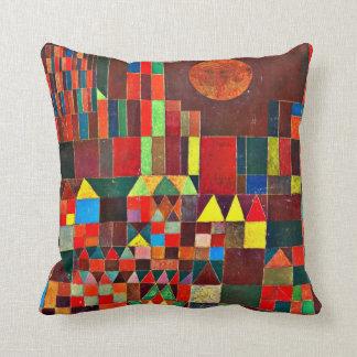 Paul Klee art: Castle and Sun Throw Cushions