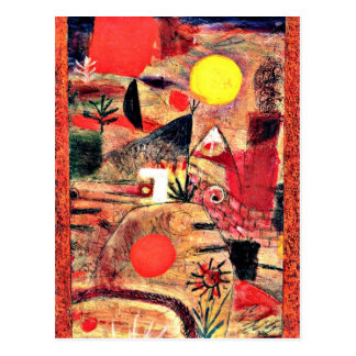 Paul Klee Art: Ceremony and Sunset Postcard