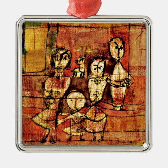 Paul Klee art: Children and Dog Christmas Ornament