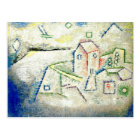 Paul Klee art: Country House in the North Postcard