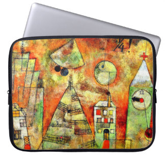 Paul Klee art: Fateful Hour, famous Klee painting Laptop Sleeve