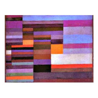 Paul Klee art - Fire Evening Postcard
