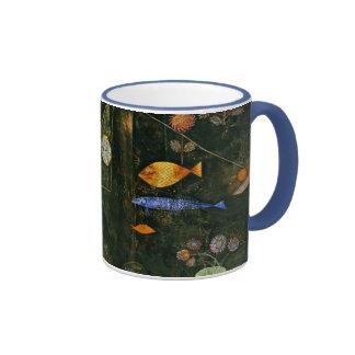 Paul Klee art: Fish Magic, famous Klee painting Ringer Mug