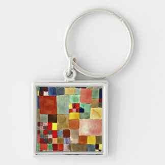 Paul Klee art: Flora on Sand, famous painting Key Ring